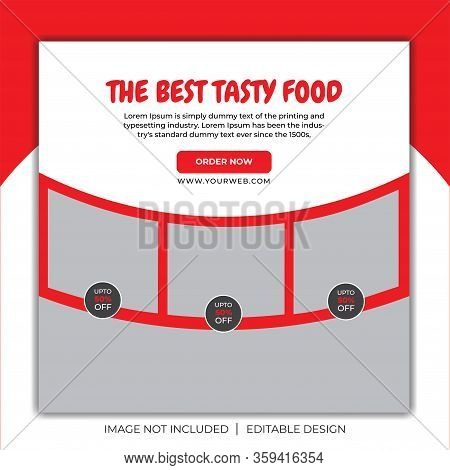 Social Media Post for Food Promotion offer poster , Healthy Food Social Media Post . Food social media web banner design template, Food Social media and web square banner design template . Delicious Food Social media post Design template for vector illust