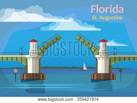 The Bridge Of Lions Is A Double-leaf Bascule Bridge That Spans The Intracoastal Waterway In St. Augu