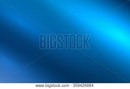 Metal Texture Abstract Background. Polished Metallic Surface. Clear Blue Steel Wall. Aluminum Brushe