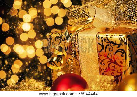 luxury golden christmas gift