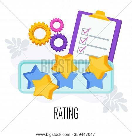 Rating Infographics Pictogram. Rating Bar For Ratings Of Customers, Site Visitors And Users. Strateg