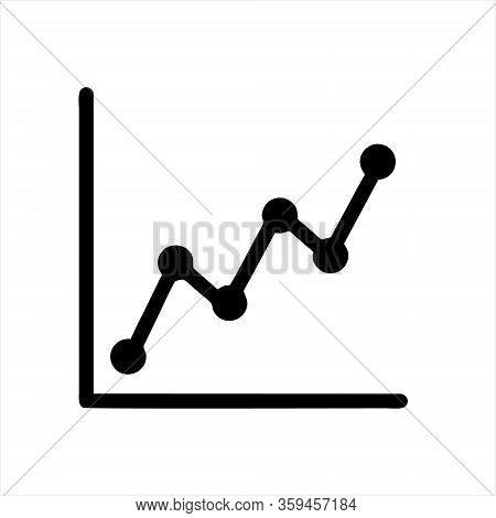 Graph Line Icons. Set Of Report, Chart Presentation, Increase Growth Graph Icons. Analytics Testing,