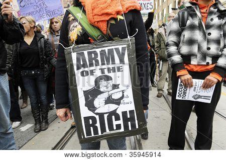 Occupy Toronto Movement.