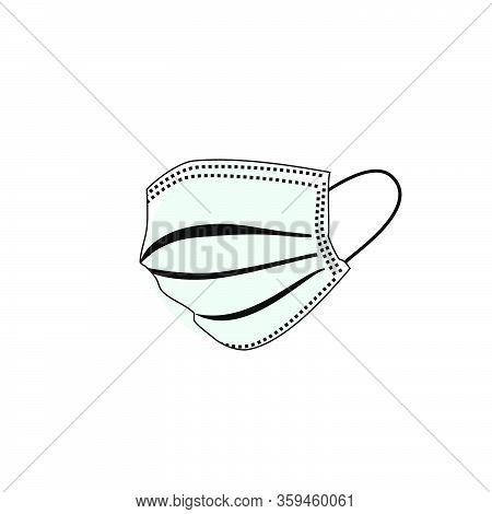 Outline Illustration Vector Graphic Of Masker For Template Design. Stop Covid-19 Masker
