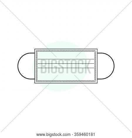 Illustration Vector Graphic Of Masker Outline For Template Design. Stop Covid-19 Masker