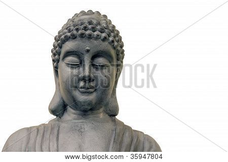 Japonské Zen Buddha socha přední detail