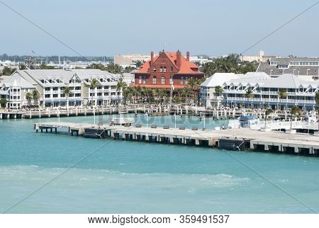 The Empty Dock For Cruise Ships In Key West Resort Town (florida).