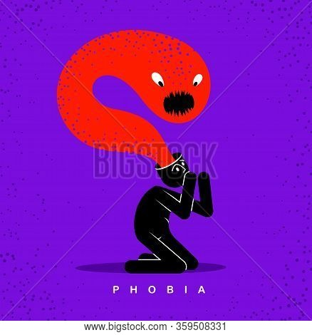 Psychical Problems Such As Phobia Psychosis Schizophrenia Hallucinations Vector Concept Illustration