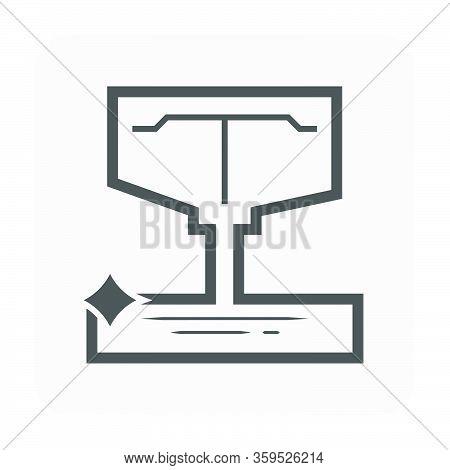 Sedimentation Tank Vector Icon Design And Water Drainage.