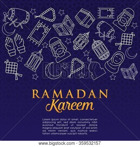 Ramadan. Ramadan Kareem. Ramadan Kareem Vector Illustration. Ramadan background. Ramadan vector. Ramadan design. Ramadan vector illustration. Ramadan Kareem Background vector template for banner, greeting card, invitation, poster design.