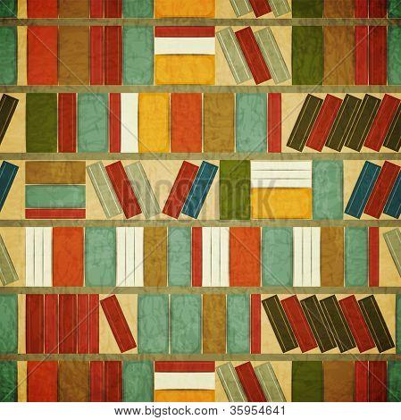 Vintage Seamless Book Background
