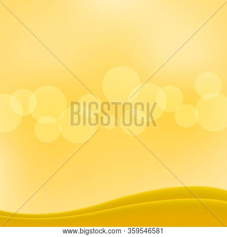 Yellow Gold Bokeh For Background Copy Space Text, Gold Glitter Glow For Luxury Backdrop Decoration,