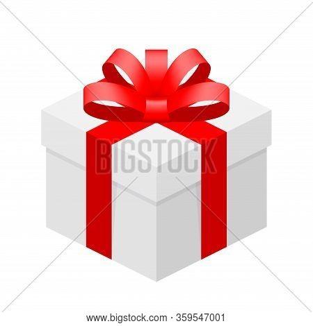 Gift Box White Ribbon Vector Photo Free Trial Bigstock