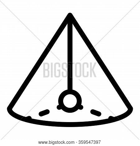 Pyramide Gravity Icon. Outline Pyramide Gravity Vector Icon For Web Design Isolated On White Backgro