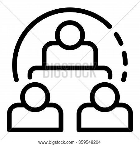 Business Classroom Icon. Outline Business Classroom Vector Icon For Web Design Isolated On White Bac