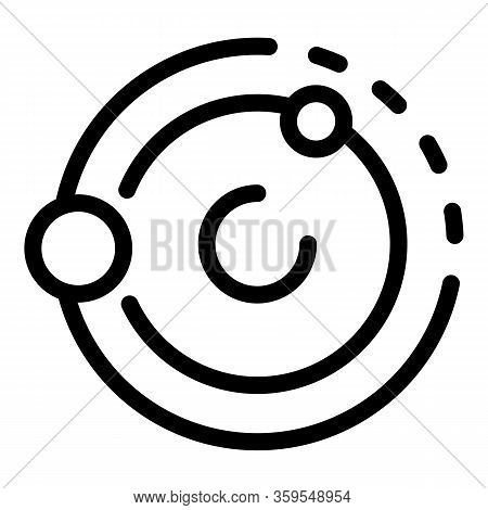Solar System Universe Gravity Icon. Outline Solar System Universe Gravity Vector Icon For Web Design