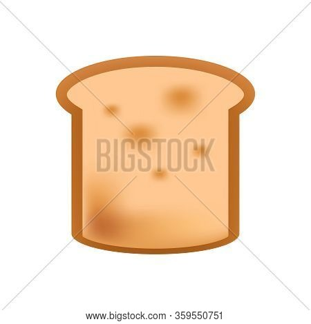 Moldy Bread Sliced Bread Icon Isolated On White, Clip Art Bread Piece Sliced Mouldy For Expired Conc