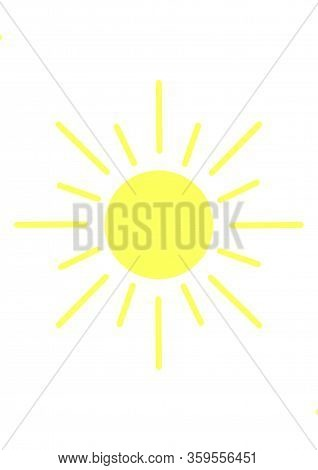 The Symbol Of The Sun. Illustration On The Theme Of Signs And Symbols