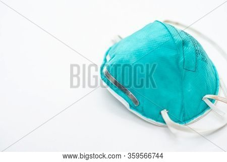 Personal Protective Equipment N95 With Protec Coronavirus Or Covid-19 Virus.