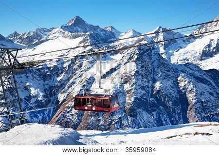 Mountain Hoist In Switzerland