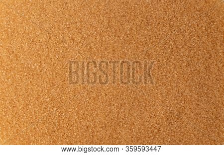 Raw Brown Cane Sugar Isolated On White Background