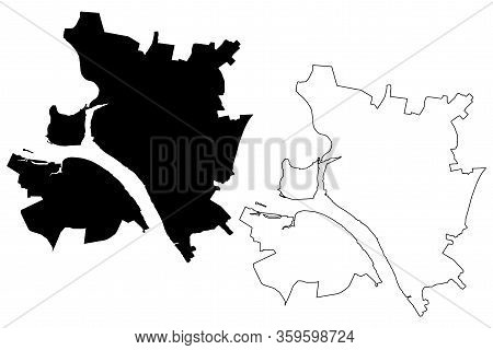 Kostroma City (russian Federation, Russia) Map Vector Illustration, Scribble Sketch City Of Kostroma