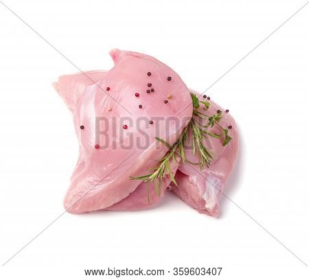 Fresh Uncooked Raw Turkey Fillet Breast Meat Isolated
