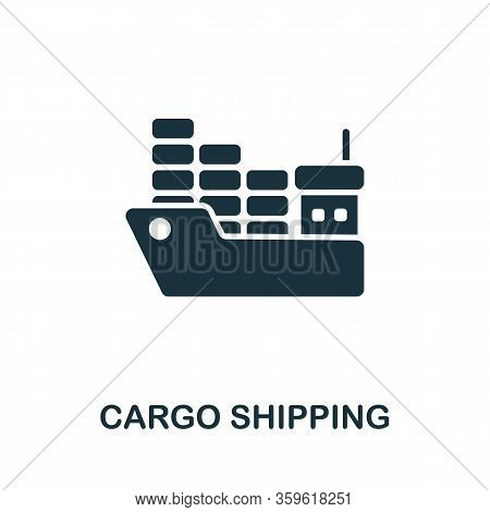 Cargo Shipping Icon. Simple Illustration From Cargo Collection. Creative Cargo Shipping Icon For Web