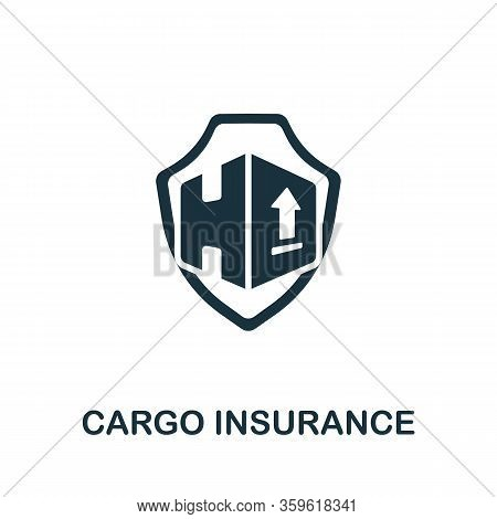 Cargo Insurance Icon. Simple Illustration From Cargo Collection. Creative Cargo Insurance Icon For W