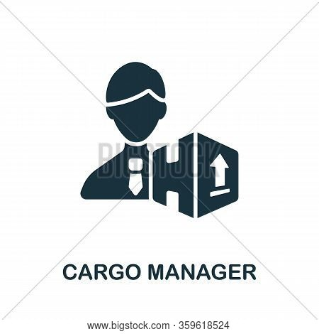 Cargo Manager Icon. Simple Illustration From Cargo Collection. Creative Cargo Manager Icon For Web D