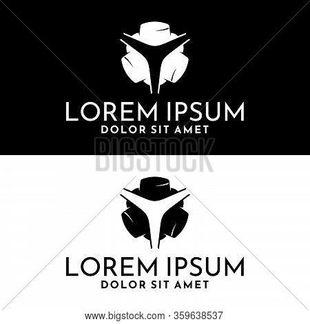 Three 3 Jewish Hats Logo Icon Template With Three Star Symbol In Flat Design Monogram Illustration