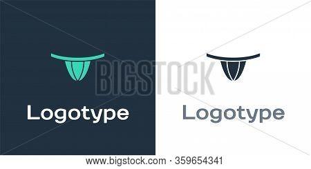 Logotype Woman Panties Icon Isolated On White Background. Girls Underpants. Lady Lingerie. Logo Desi