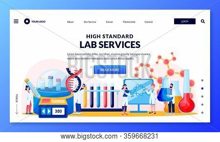 Research Medical And Genetic Science Laboratory. Scientists And Assistants Carry Out Experiments And
