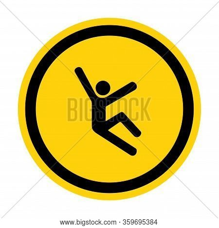 Climb Hazard Symbol Sign Isolate On White Background,vector Illustration Eps.10