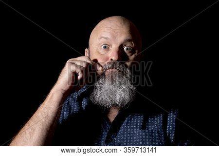 A Man Gesturing Zipped Lips, Secrecy Concept.
