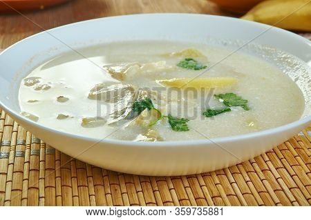 Whitefish, Leek And Celery Chowder Close Up