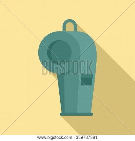 Dog Training Whistle Icon. Flat Illustration Of Dog Training Whistle Vector Icon For Web Design