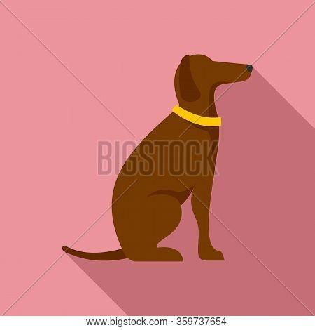 Police Dog Training Icon. Flat Illustration Of Police Dog Training Vector Icon For Web Design