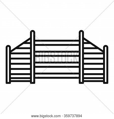 Dog Training Barrier Icon. Outline Dog Training Barrier Vector Icon For Web Design Isolated On White