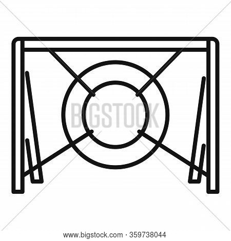 Dog Tire Obstacle Icon. Outline Dog Tire Obstacle Vector Icon For Web Design Isolated On White Backg