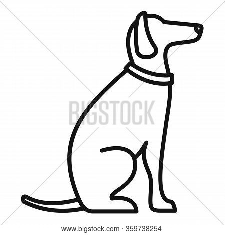 Police Dog Training Icon. Outline Police Dog Training Vector Icon For Web Design Isolated On White B