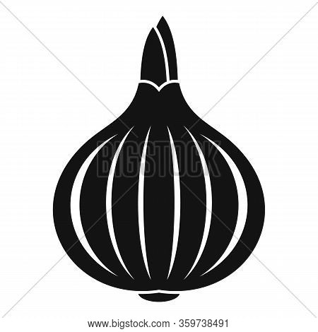 Vegetable Onion Icon. Simple Illustration Of Vegetable Onion Vector Icon For Web Design Isolated On