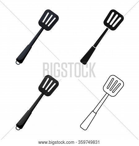 Isolated Object Of Kitchenware And Shovel Symbol. Collection Of Kitchenware And Cook Stock Symbol Fo