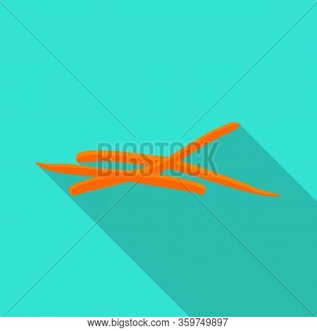 Vector Design Of Carrot And Fresh Sign. Web Element Of Carrot And Cooked Stock Vector Illustration.
