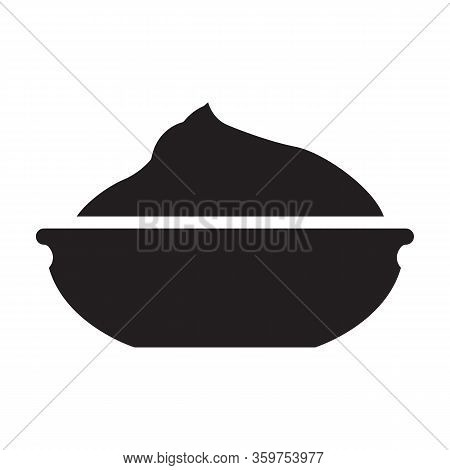 Wasabi Vector Icon.black Vector Icon Isolated On White Background Wasabi .