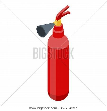 Accident Fire Extinguisher Icon. Isometric Of Accident Fire Extinguisher Vector Icon For Web Design