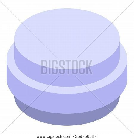 Antibiotic Tablet Icon. Isometric Of Antibiotic Tablet Vector Icon For Web Design Isolated On White