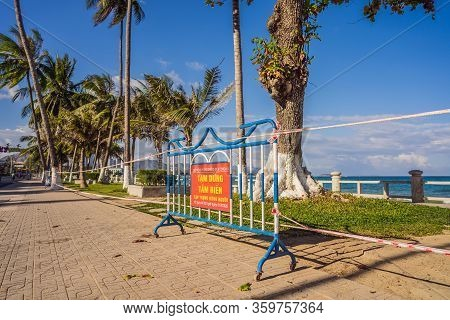 Corona Virus Threat Closes Beaches And Public Places In Many Countries. The Inscription Prevention O