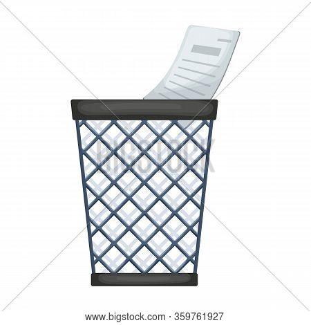 Wastebasket Vector Icon.cartoon Vector Icon Isolated On White Background Wastebasket.