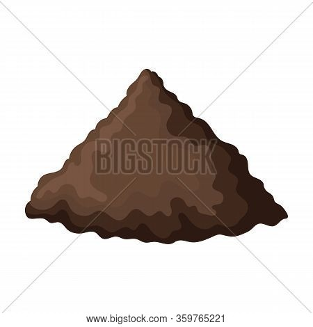 Pile Soil Vector Icon.cartoon Vector Icon Isolated On White Background Pile Soil.